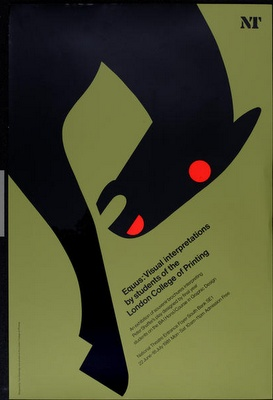 The Blue Rider: Cool poster art by Tom Eckersley