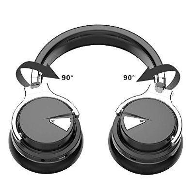 COWIN E7 Casque Bluetooth 4.0 Over-Ear stéréo Écouteurs sans fil Avec Microphone NFC, léger, Autonomie de 30 heures - Noir.