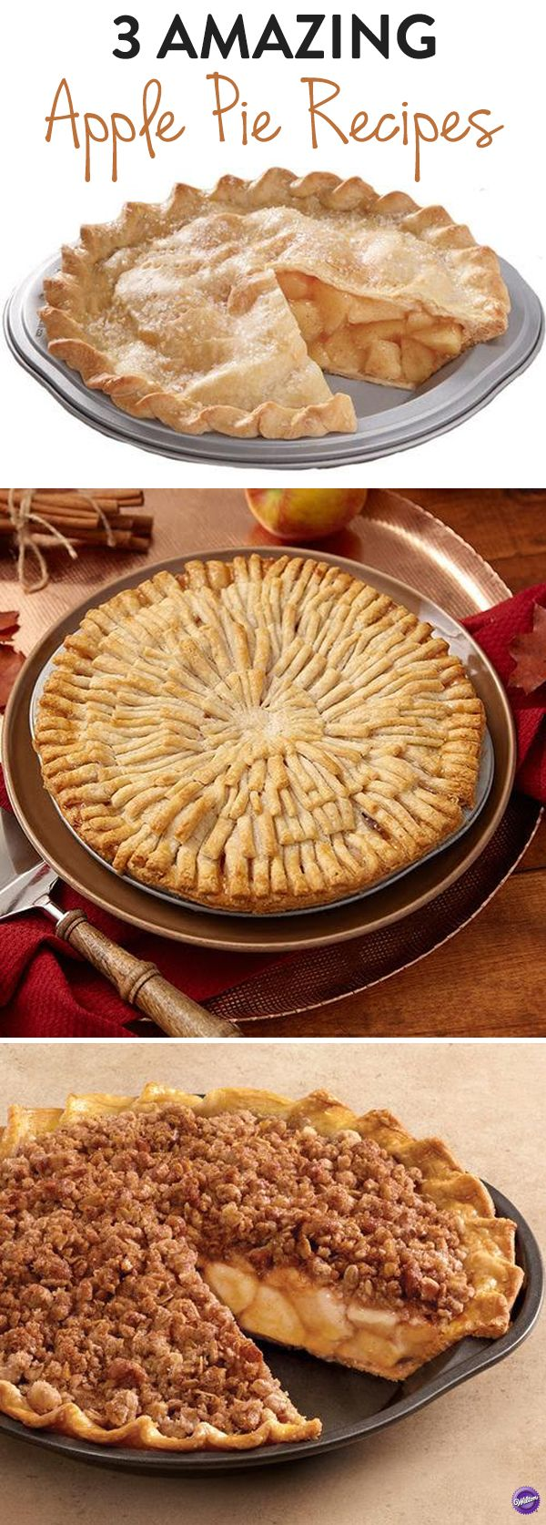 Amazing Apple Pie Recipes - Apple pie is a classic dessert that is easy to master, and there are so many ways to put a twist on the recipe to suit your personal taste. Here are 3 different recipes plus tips and tricks for how to bake the perfect apple pie!