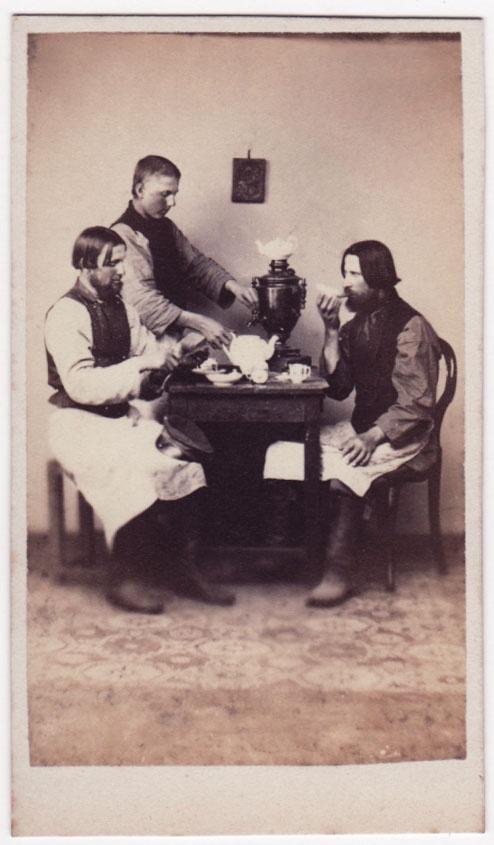húsverðir drekka te   Rússland  1860-1870