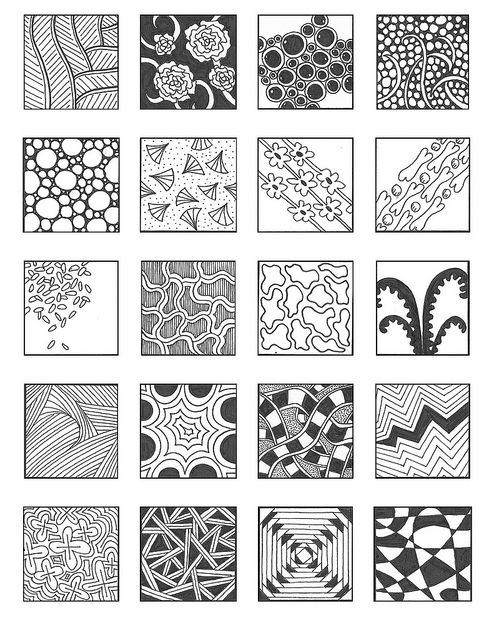 ZENTANGLE PATTERNS n