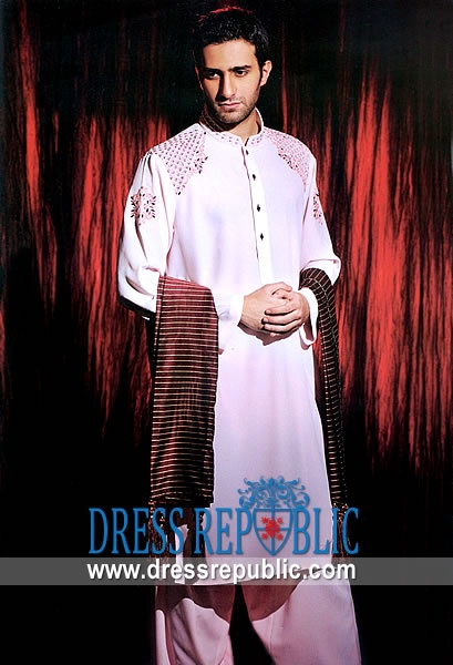 Style DRM1293 - DRM1293, Amir Adnan Mens Shalwar Kameez 2013 Collection, Ramadan EID 2013 Designs by www.dressrepublic.com