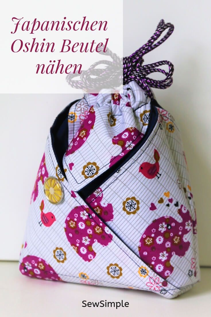 Sewing Japanese Oshin Bag: Refined Instructions