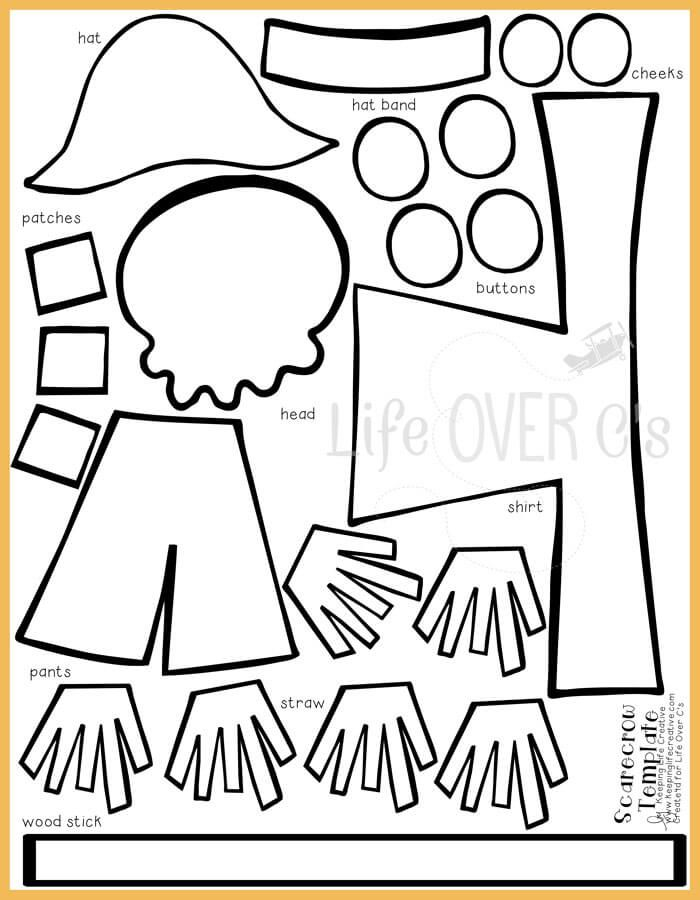 FREE scarecrow cut-and-paste template