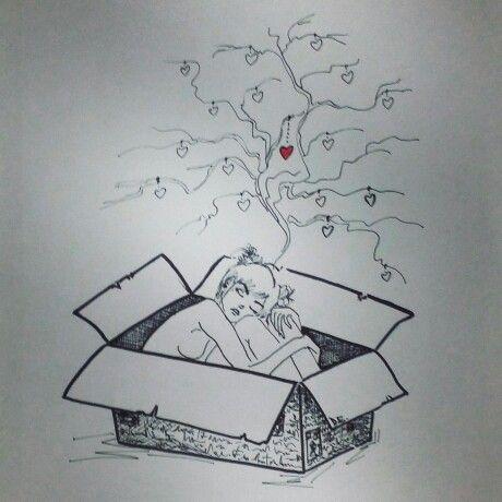 #box #girl #tree #fell #heart #love