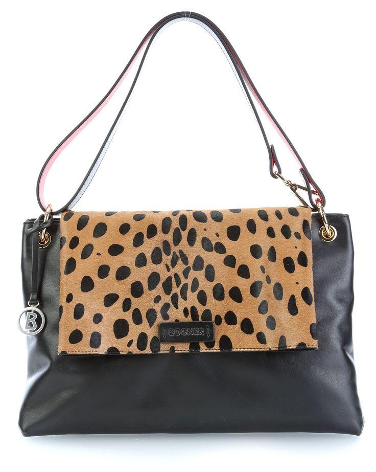 wardow.com -  #bag #animalprint #wild #Bogner Animal Sibyl Henkeltasche Leder schwarz multi 34 cm