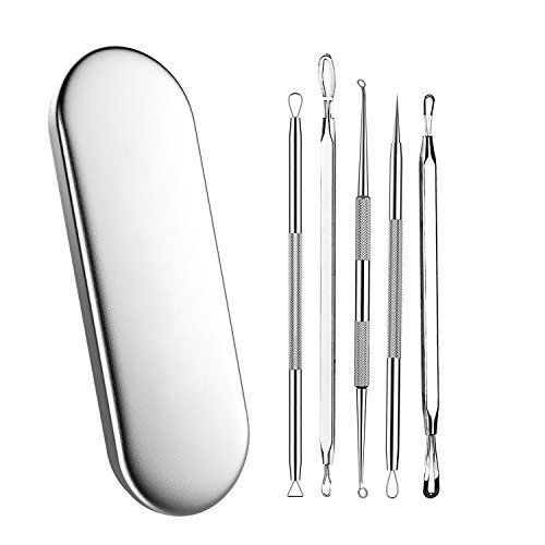 Maysky Blackhead Remover Pimple Acne Extractor Tool Best Comedone Removal Kit  Treatment for Blemish Whitehead Popping Zit Removing for Risk Free Nose Face Skin with Metal Case -- Read more at the image link.