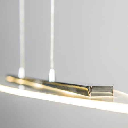 Lampa wisząca Canoe chrom #designlampa #nowoczesnelampy #lampyled