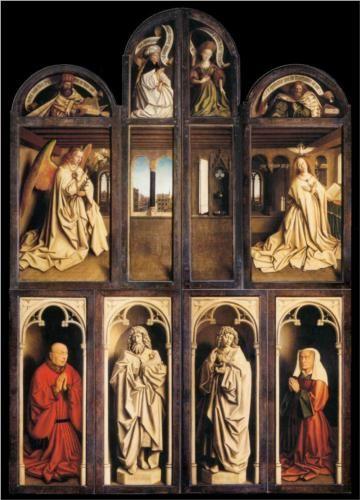 Left panel from the Ghent Altarpiece - Jan van Eyck