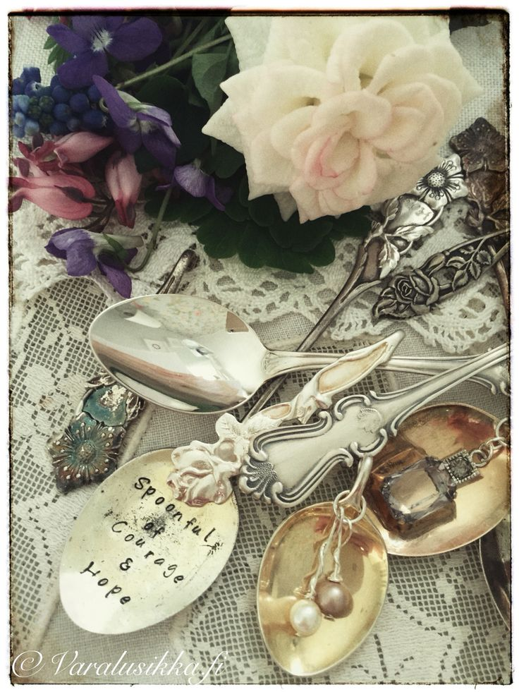 Spoonful of Courage and Hope. Beautiful hand made spoon jewelry on www.varalusikka.fi