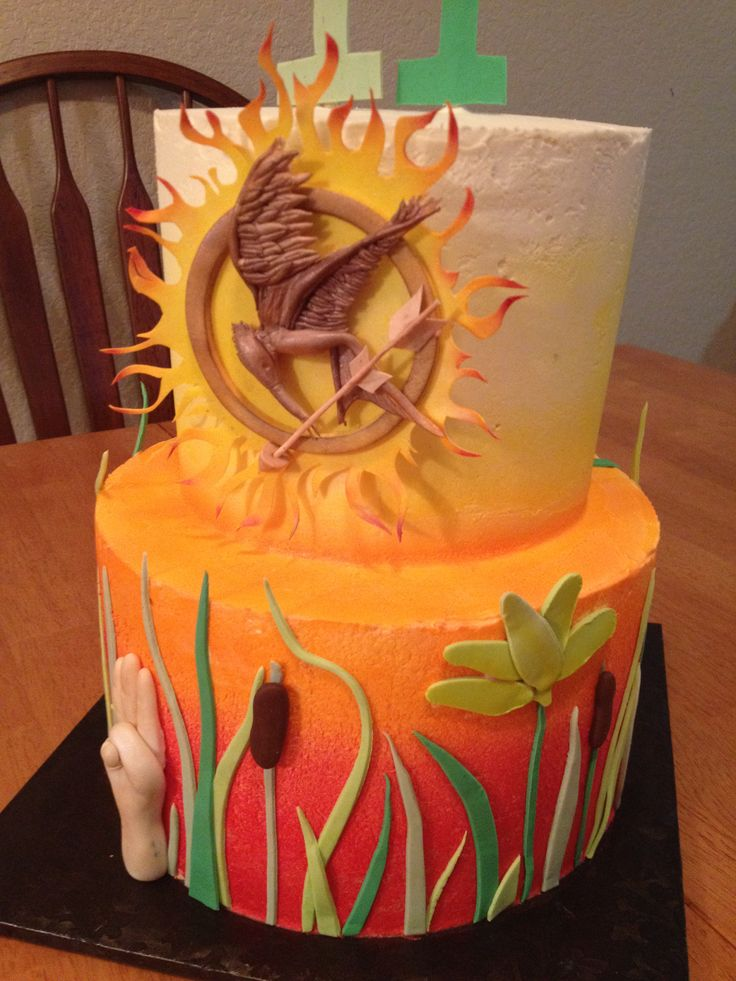 Hunger Games Cake by Top Tier Cakes for All Occasions on Facebook in Wenatchee WA!! Come like me!!!