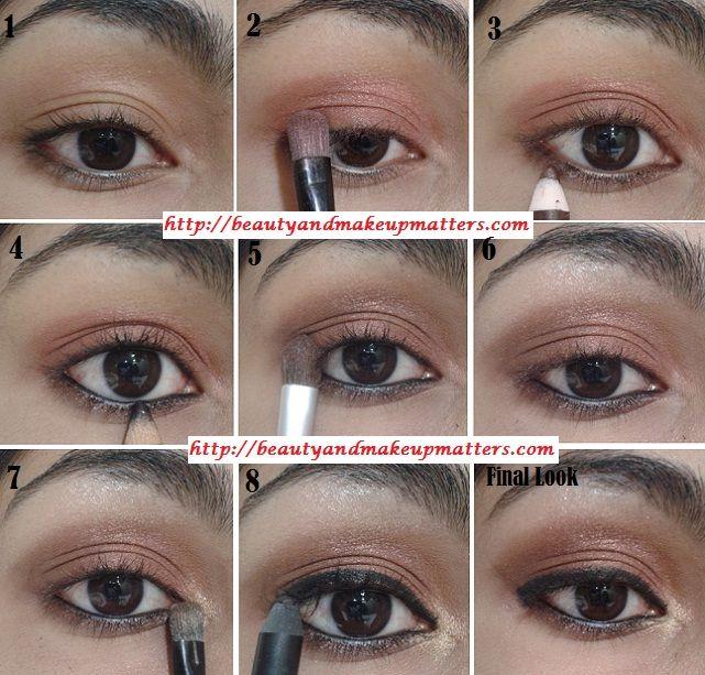 Eye Makeup Tutorial –Copper Brown Eye Makeup