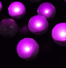 Fairy Berry lights for your wedding. Individual or on a string. Submersible. Lots of colors. They flicker and flutter giving a magical fairy light.