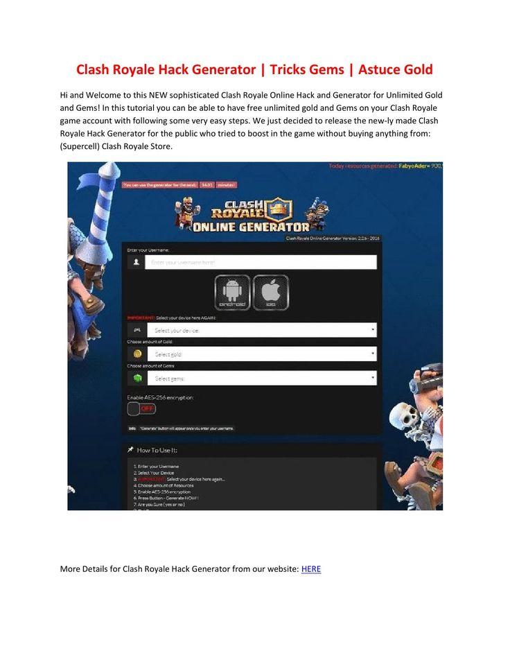 New Free Clashroyalehackk.Com Clash Royale Gems Generator Online