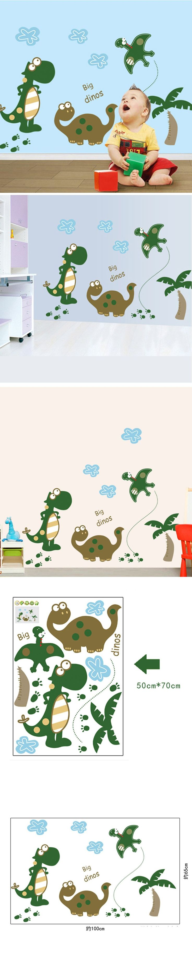 best 25 dinosaur wall stickers ideas on pinterest dinosaur wall fashion cute new cartoon dinosaur wall stickers kids room decorative children removable pvc home decor wallpapers e007