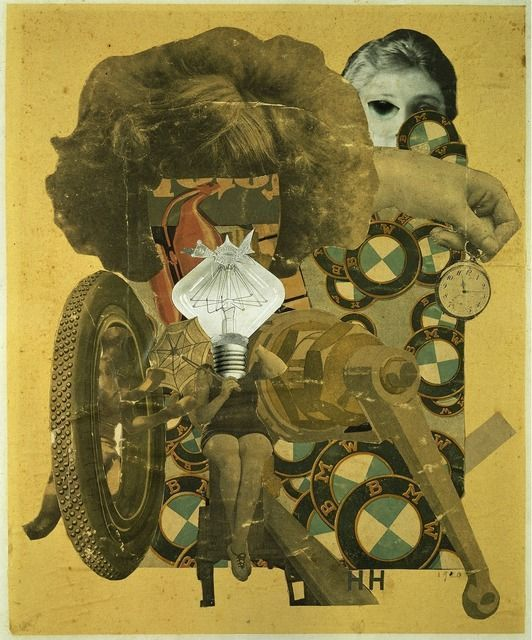 From ARS/Art Resource, Hannah Höch, Das schöne Mädchen [The Beautiful Girl] (1920), Collage
