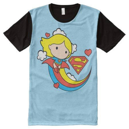 Chibi Supergirl Flying Rainbow All-Over-Print Shirt - tap to personalize and get yours