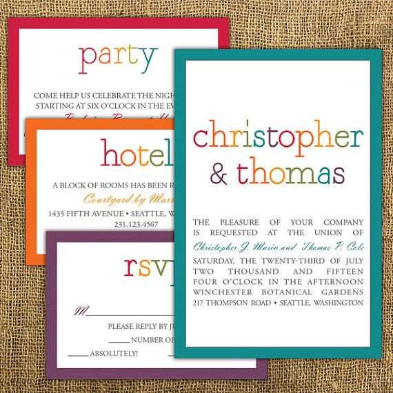 diy printable wedding invitation and rsvp card rainbow wedding invitation on etsy 3999 rainbow wedding pinterest wedding save the dates rainbow - Rainbow Wedding Invitations