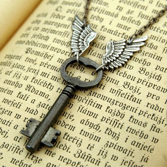 Skeleton Key with Wings..... Not a huge fan of the wings, but I love the key!