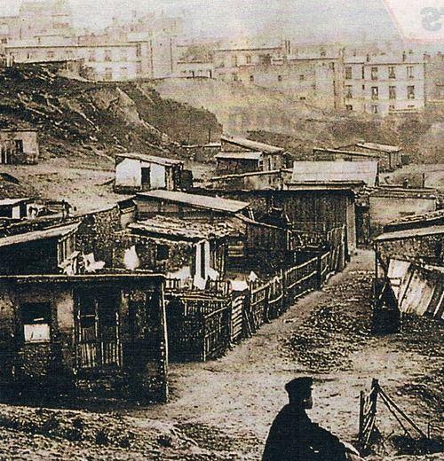 La rue Champlain dans le quartier de Belleville, avant 1860