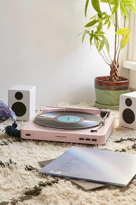 Audio-Technica X UO AT-LP60 Pink Vinyl Record Player