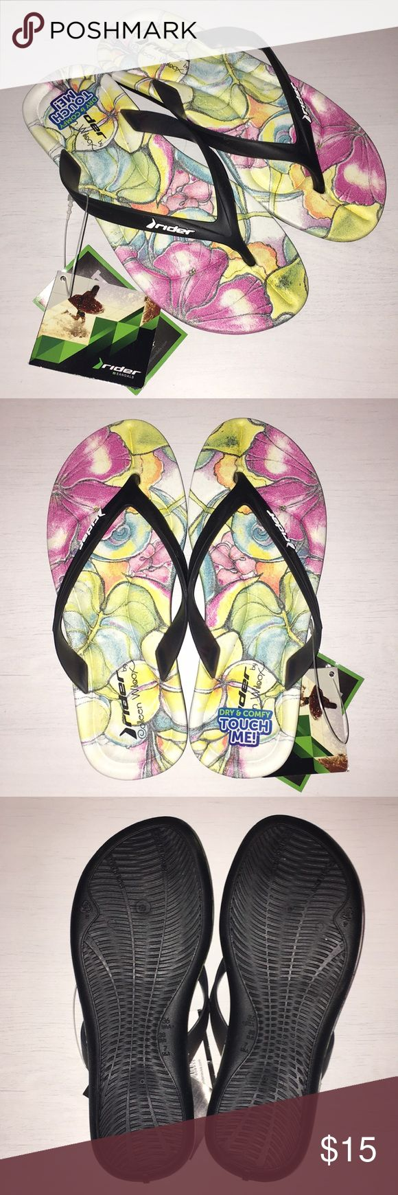 NWT Women's flip flops NWT Women's flip flops. Super comfy made with dry eco foam for a cushiony feel. Feel free to ask any questions :) Rider Shoes Sandals