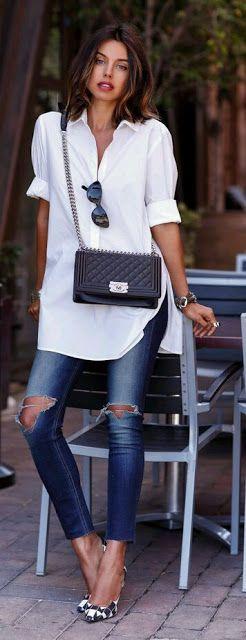 Georgia's fashionfocus: ⏩ WHITE   SHIRT   ♥