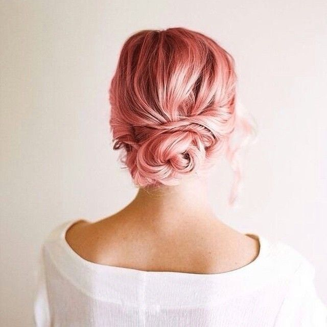 Beautiful pink updo hairstyles - Updo Hairstyles to try this summer – 14 different hair buns