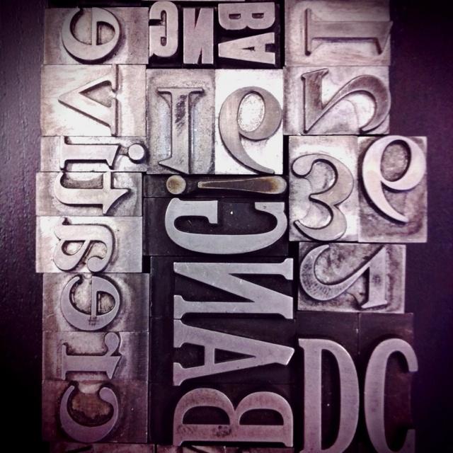 Kickin' it Old school. Old lead letterpress typography @BangCreativeCom