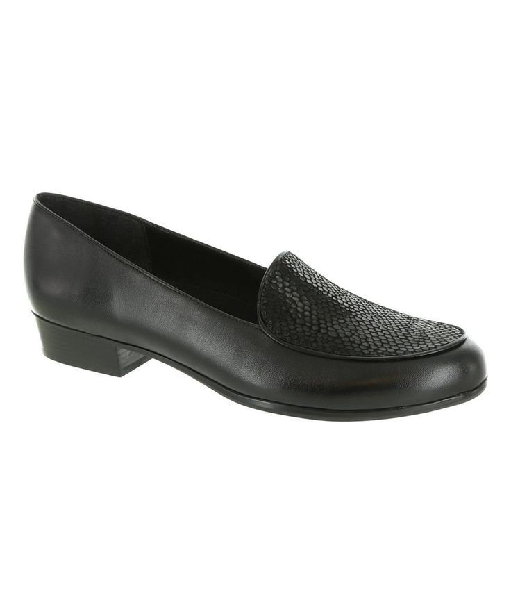 This Munro Shoes Black Mallory Leather Loafer by Munro Shoes is perfect! #zulilyfinds