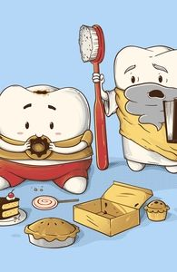 My Sweet Tooth Never Listens to My Wisdom Tooth, Nestors Designs + Threadless Collection - Nestor Gomez