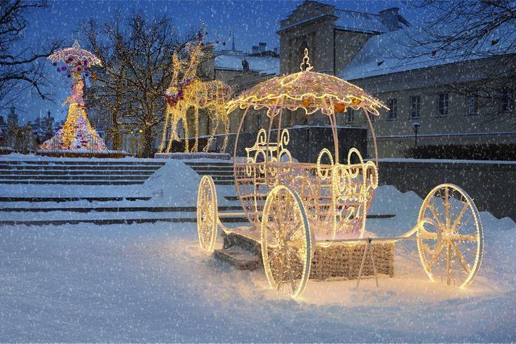 Krakowskie Przedmieście in the winter