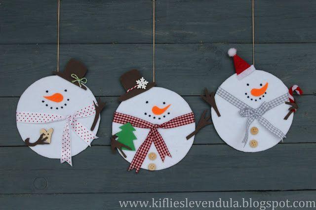 hiver bricolage enfants bonhomme de neige
