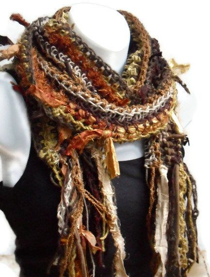 The colors in this scarf are perfect for my earthy/hippie ...