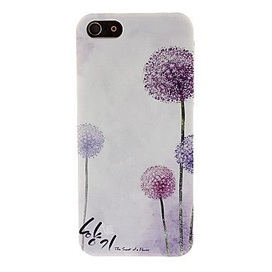 This is a really beautiful case | Romantic Purple Dandelions Pattern Hard Case for iPhone 5 from (guess what...) miniinthebox.com