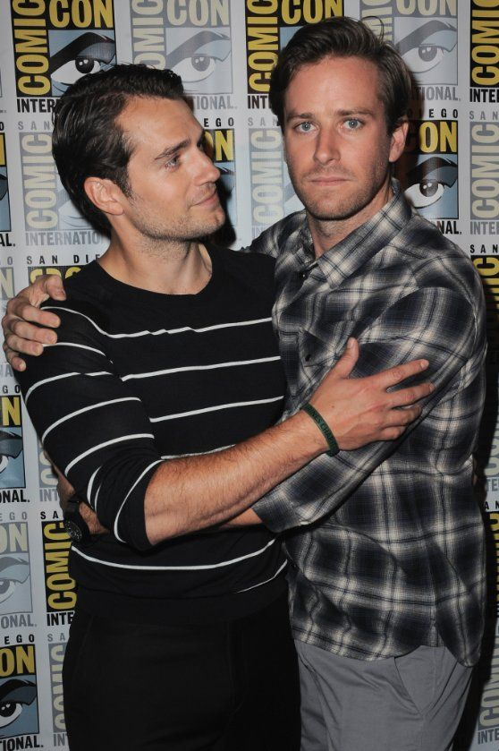 Henry Cavill and Armie Hammer at event of The Man from U.N.C.L.E. (2015)