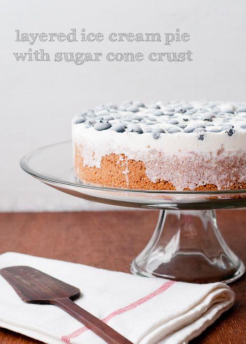 Cafe Johnsonia: Layered Ice Cream Pie with Sugar Cone Crust