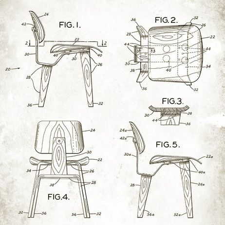eames dcw chair patent drawing the perfect chair