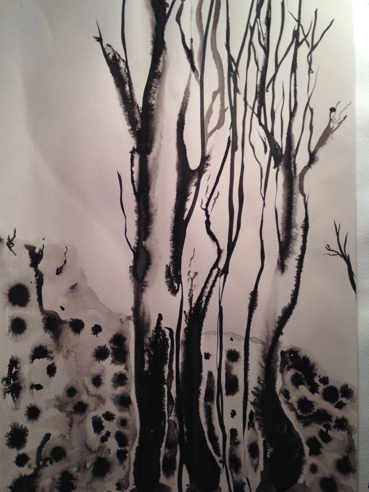 Salaperäinen metsä 2 #ink