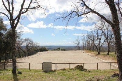 ¿Has visto una pista de equitación con vistas más bonitas que estas?