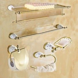 Bathroom Accessory Set 1set Quick Release Antique Brass Bathroom