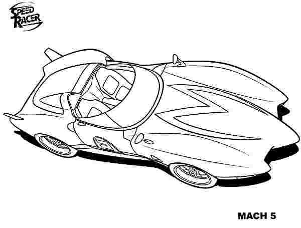 Coloring Festival Speed Racer Mach 5 Coloring Pages More Than 33