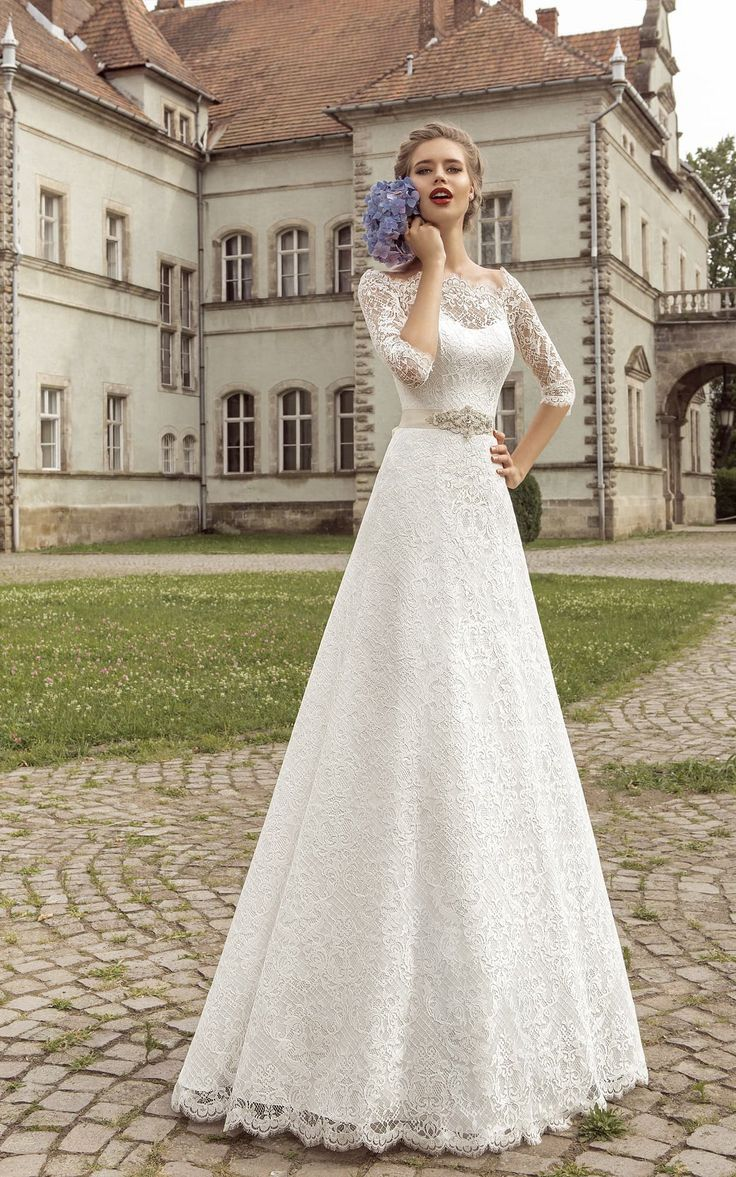 Modest long sleeve wedding gown   best Long Sleeve Wedding Dresses images on Pinterest