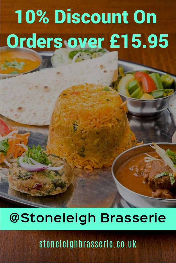 Order Indian takeaway food online at Stoneleigh Brasserie in Stoneleigh Epsom KT17 near Motspur Park, Stoneleigh, Worcester Park & Ewell West. See menus & offers.