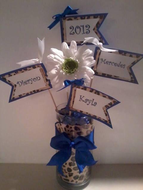 Blue Centerpiece Quotes : Best images about graduation party on pinterest