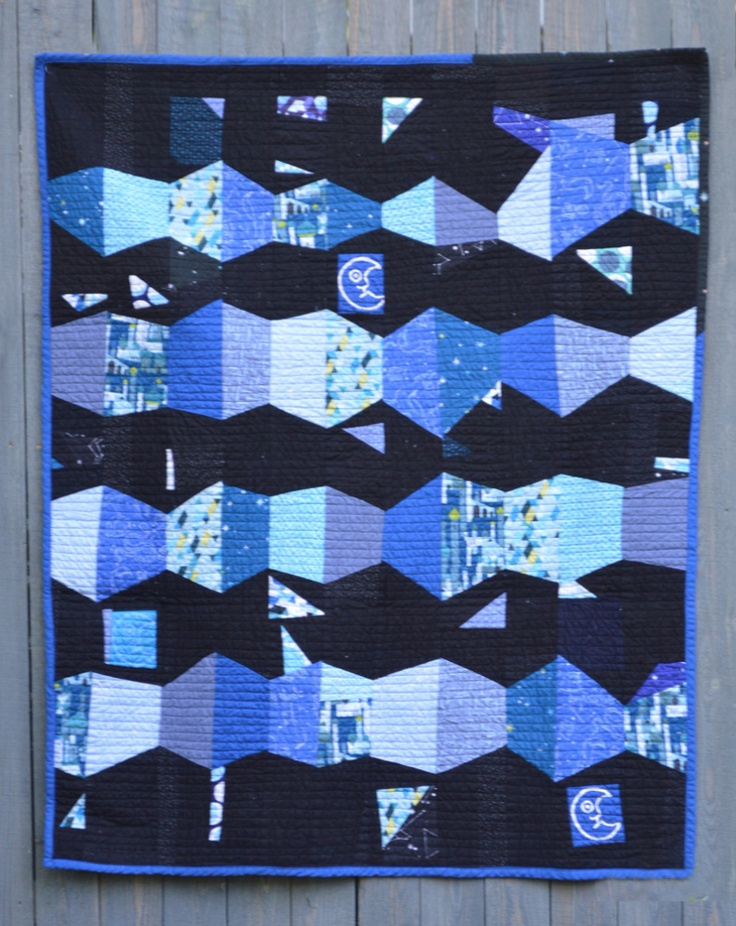 Trapezoids in Space a finished quilt Quilts, Hexagon