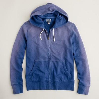 Sun-washed fleece zip hoodie
