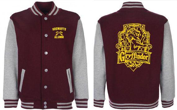 Gryffindor Quidditch Varsity Jacket Unisex Tumblr Pinterest Harry Potter Fan Sweatshirt
