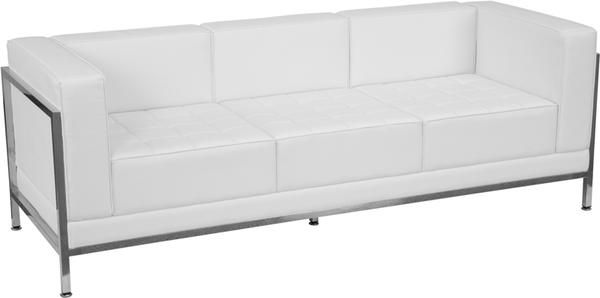 Hercules Imagination Series Contemporary White Leather Sofa With