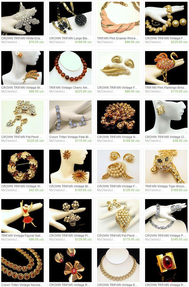 Trifari Vintage Κοσμήματα προς πώληση στο Classic Κοσμήματα μου Etsy Shop